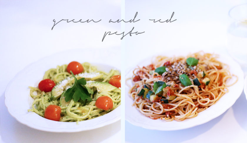 red_and_green_pesto
