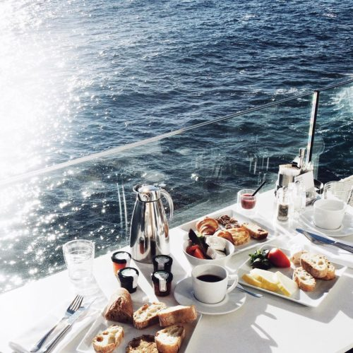 breakfast by the sea what a perfect moment it washellip